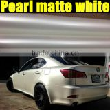 very good quality pearl white matte vinyl sticker with size 1.52*20m/Roll