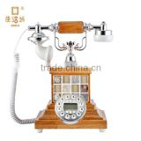 Shenzhen jiahuafang retro European creative landline battery-free no batteries solid wood antique telephone