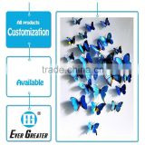 Adhesive 3d butterfly tattoo sticker dome stickers custom 3d dome sticker made in China