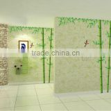 """Bamboo&Chinese Poem"" PVC Wall Stickers, Removable Wall Stickers 1/3"