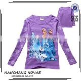 Girls Cartoon Frozen T-shirt Cute Anna Elsa Pattern Long Sleeve Tees Children Kids T Shirt Spring Autumn Clothing elsa t-shirt