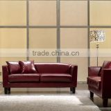 modern leather sofa set / beauty salon furniture / germany design living room furniture HS18