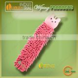 Ultrafine fiber chenille lovely design hooked kids towel for baby wiping hand with free sample