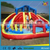 0.55 pvc commercial inflatable water slide with pool