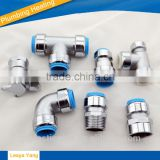 Push fit fittings Push fitting pipe fitting chrome platedheating pipe fittings brass male thread elbow