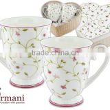 CARMANI the gift set of two mugs THE HEART design