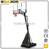 Portable adjustable PE basketball stand