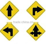 Reflective triangle warning traffic signs,safety traffic sign,aluminum traffic post Traffic signs