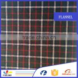 fashion shirt garment yarn dyed cotton plaid flannel fabric                                                                         Quality Choice