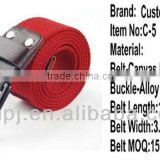 2013 man and woman casual longer and thicker military quality woven belt with pin buckle