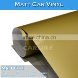 1.52x30M 5x98FT Air Bubble Free Matt Gold Wrap Film Car Cover Vinyl