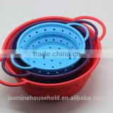 3 pcs set Hot selling Flexible and Durable Collapsible Silicone Kitchen Sink Strainer and Colander