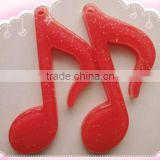 musical note resin craft for decoration, garment accessory, promotion,diy buttons