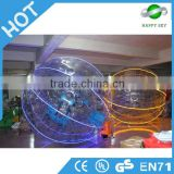 Good quality kids grass LED zorb balls,pvc small LED zorb ball,inflatable glow LED zorb ball