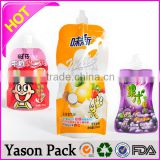 YASON stand up spout bag for liquid and solid snacks tea bag with spout stand up pouch beverage doypack