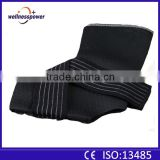 2016 Factory Black Nylon Lycra Ankle Support Socks