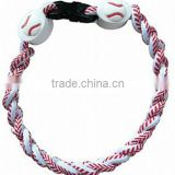 2014 Fashion Germanium & Titanium Ionic Sport Baseball Necklaces 3-rope Tornado Custom Size and Colors                                                                         Quality Choice