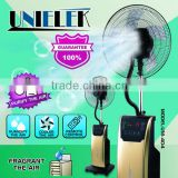 2015 summer water cooling mist fan water spray industry humidify electric sprayer stand fan with remote control