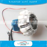 High low beam LED projector lens, 6000K Motorycle LED projector headlight with angel eyes