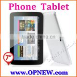 "7"" 3G phablet GSM phone tablet pc MTK 6582 quad core android 4.4 4 bands 3G calling"
