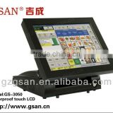 All in one touch screen POS system / EPOS Solutions Dual Core motherboard touch cash machine
