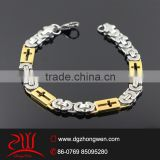 316 L stainless steel gold plated cross bracelets man's design