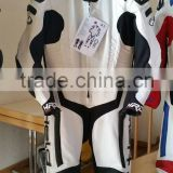 Leather Moror cycle Motorbike Racing Suit with Black and white