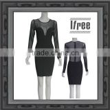 black long sleeve with gauze bandage dress