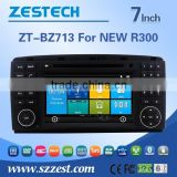In dash double din car dvd car radio for BENZ NEW R300 with DVD,GPS,Radio,SWC,RDS,VDR,WIFI