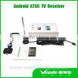 Android ATSC tv receiver for streaming playback of MPEG-4/H.264 video for pad /Phone