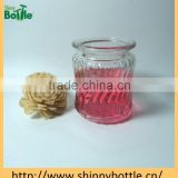 high quality engraved hanging glass mason jar for candle holder