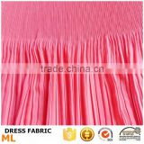 Bikini bra dress fabric, pleated chiffon fabric with two different designs pleated for beach dress