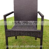 Poly rattan furniture rattan chair with armrest