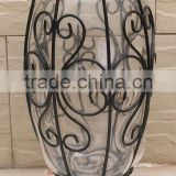 factory wholesale vintage handmade art crafts flower glass vase