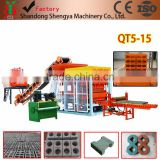 Shengya Brand QT5-15 fully automatic system hydraulic cement brick making machine for building house in Africa