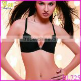 New Fashion Plus size Brassiere Ccup Front Closure Sexy Seamless Adjustable Push up Bras Women Cotton Genie Bra Underwear Black
