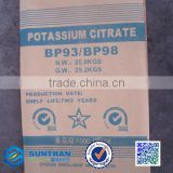 Food Additives low price tripotassium citrate monohydrate/ potassium citrate monohydrate