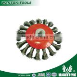 WT0306003 WANTOK twisted wire dish wheel brush for angle grinder