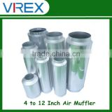 4''/ 5''/ 6''/ 8''/ 10''/ 12'' Hydroponics 25 DBA Reduce High Efficient Silencer