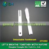 INQUIRY ABOUT Environment-friendly biodegradable PLASTIC PLA(polylactic acid) toothbrush/ hotel toothbrush