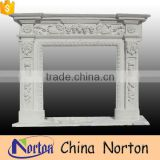 simple design indoor used marble fireplace mantel NTMF-F509X