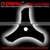 ITO-B-8 Brush Cutter blade for the Mower, SK-5 material 3T with tooth size from 230mm to 600mm, thickness from 1.0mm to 3.0mm