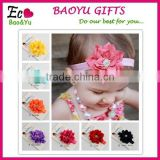 Mini Baby Turban Headband wholesale Top Flower Elastic Headband Baby Hair Accessories Hairband