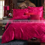 New luury Chinese wedding bed 4pcs bedding set include duvet cover bed sheet pillowcases set satin jacquard home tetile.