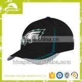 2013 ladies and mens black fashion 3D embroidery 6 panels custom design baseball caps and hats
