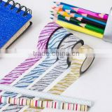 15mm*5m glitter tape zebra pattern design customized planner accessories adhesive paper tape