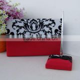 2015 red wedding guest books golf pens and pen holder customized Signature Guest Book