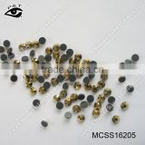 Hot fix MC SS16 Gold Color Rhinestone Machine Cut Crystals Jet Gold Hematite For Clothing