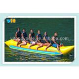 0.9mm PVC tarpaulin, 6m, tube 65cm, inflatable banana boat for 4 persons