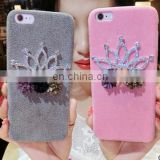 New Arrival Bling DIY Queen's Crown Cover Case Luxury Crystal Dimond Phone Case For Apple Iphone 6 6 plus 7 7plus